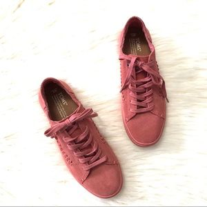 Toms faded rose suede Lenox sneakers